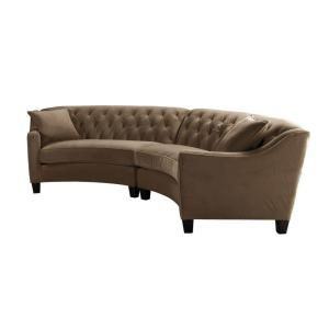 Prime Riemann 2 Piece Mocha Microsuede Sectional In 2019 Great Pabps2019 Chair Design Images Pabps2019Com