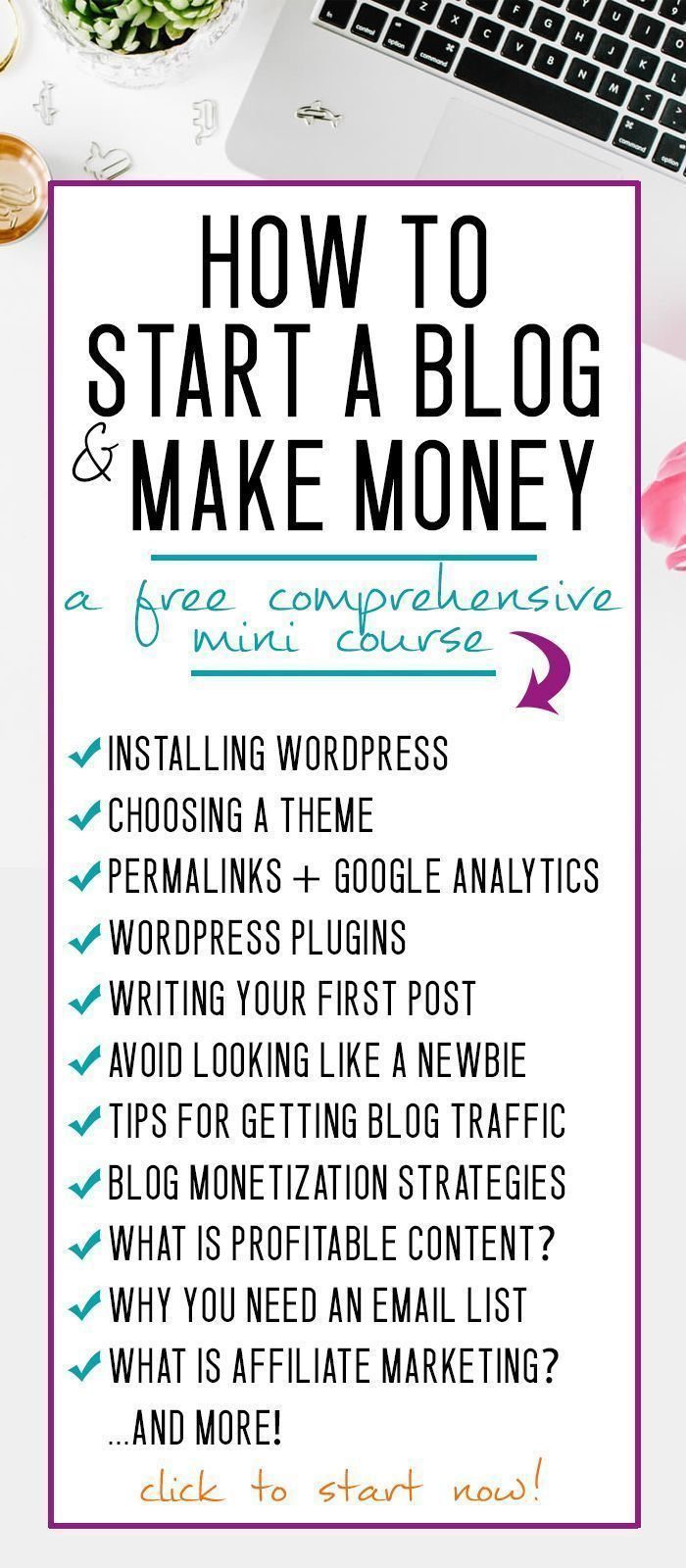 How to Start a Blog and Make Money in 2019 #machesselbst–diy