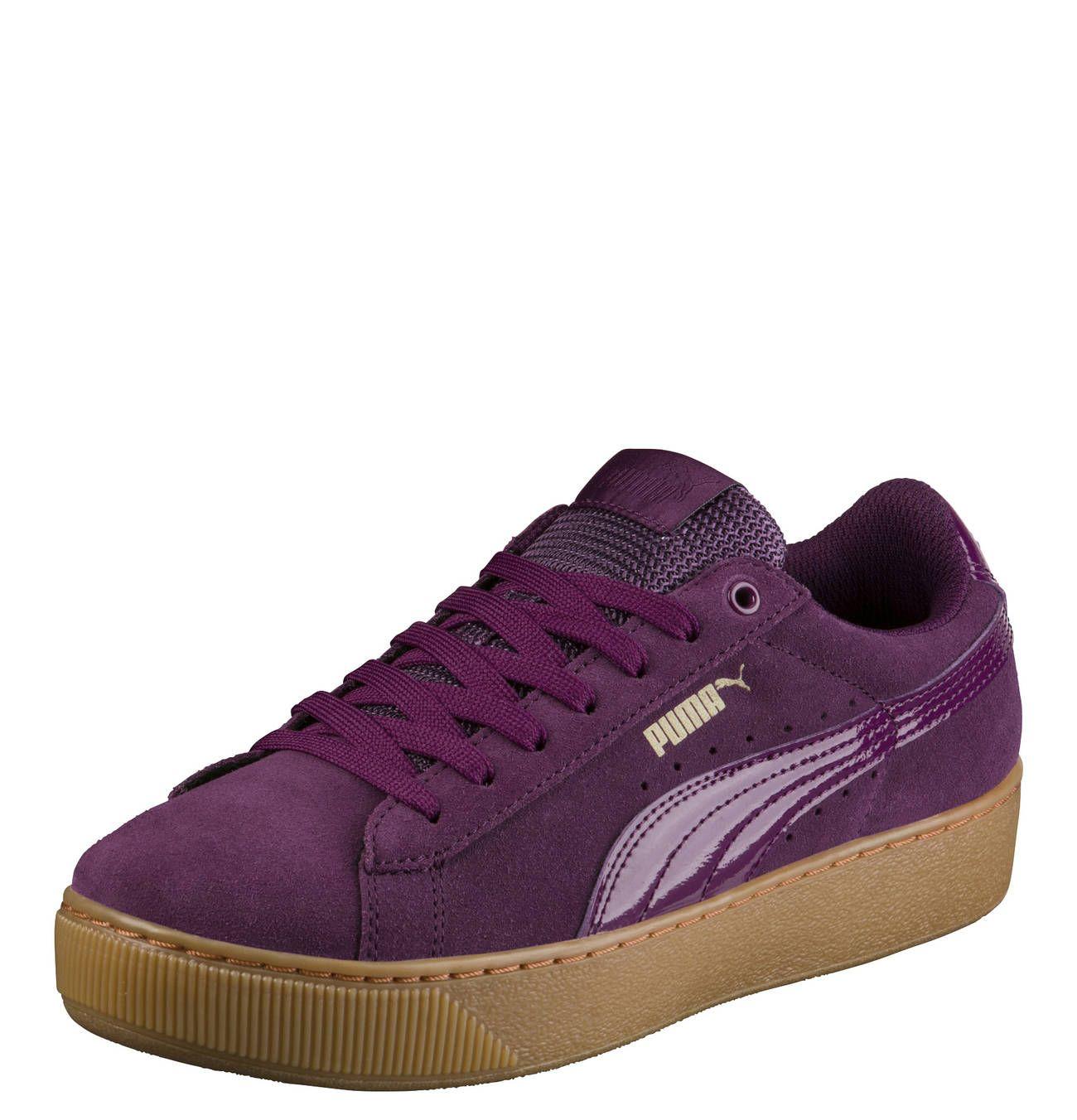 PUMA Vikky Damen Sneaker Violett Damenschuhe Sneaker