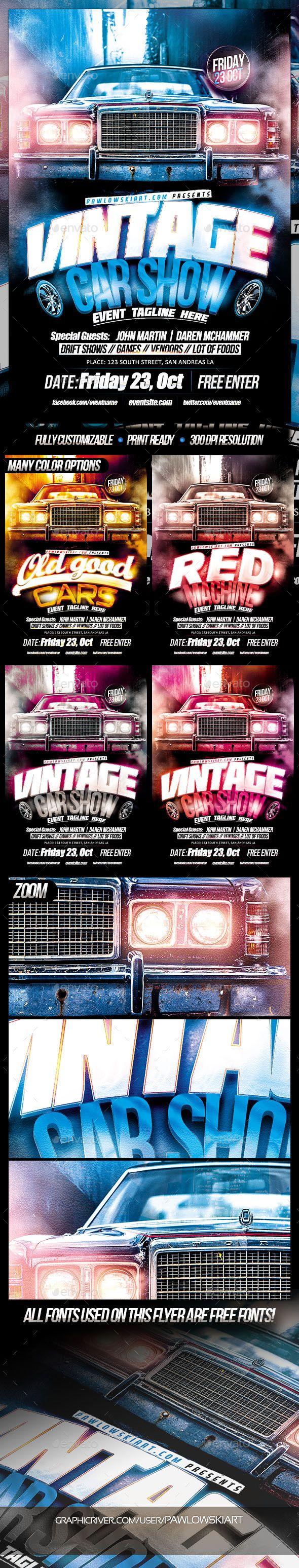 Vintage Car Show Event Flyer Template  Event Flyer Templates