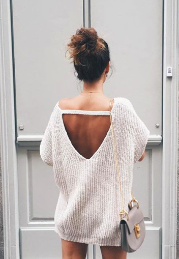 e3c11e54f2c1 open back sweaters | my style | Fashion, Fall outfits, Autumn fashion