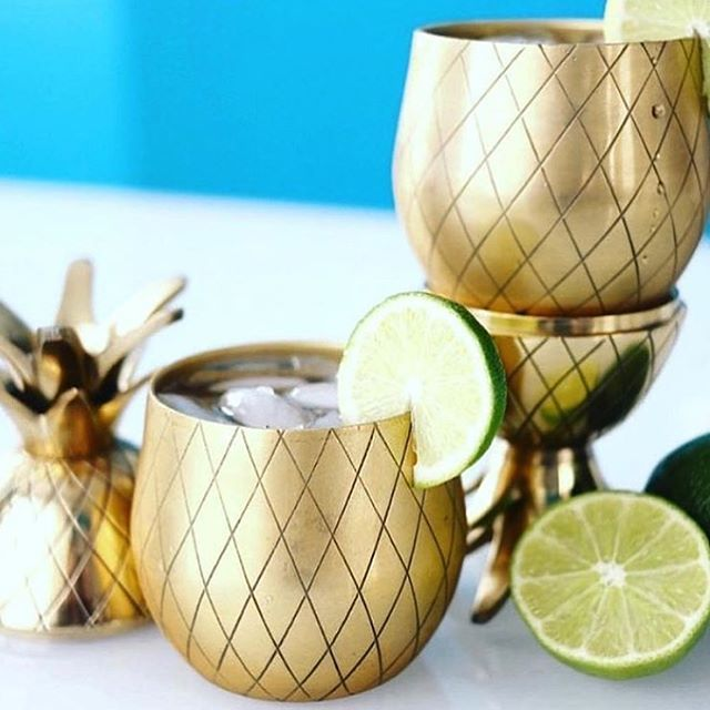 The only thing better than taco Tuesday is your margarita in a 🍍🍍 tumbler! This is a must have for summer and is available at @thesoulproject #tacotuesday #margarita #happyhour #pineapple #gold #shopping #fashion #style #shoplocal #homedecor #shopsmall #lagunabeach #thesoulproject #summertime #beachdaze #heatwave