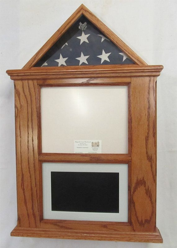 Oak Flag Document With Digital Photo Display For 3x5 Flag Etsy Flag Display Case Flag Display Digital Photo Frame