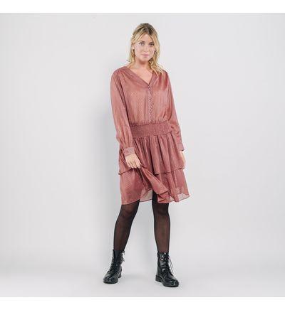 Artlove Robe courte � volants SIDONIE Robes Rose XL Polyester