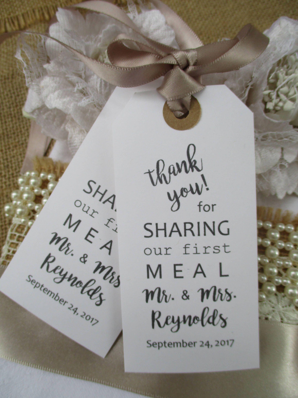 Wedding Napkin Ties-Calligraphy Wedding Table Decor Tags ...