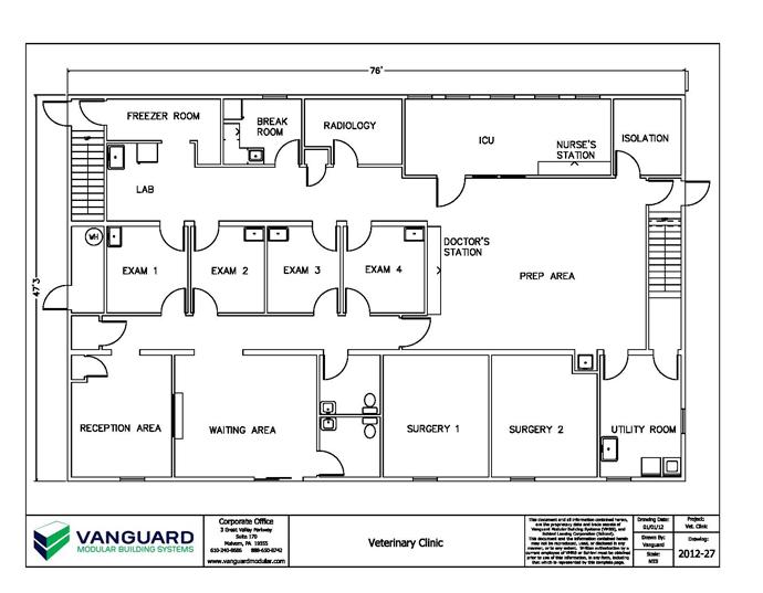 Small Veterinary Hospital Plans 47 X 76 Modular