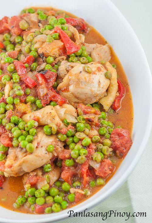 Chicken Guisantes Recipe Panlasang Pinoy Healthy Chicken Recipes Recipes Filipino Recipes