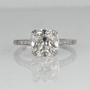 Designer Cushion Cut Engagement Rings Vintage Style 49