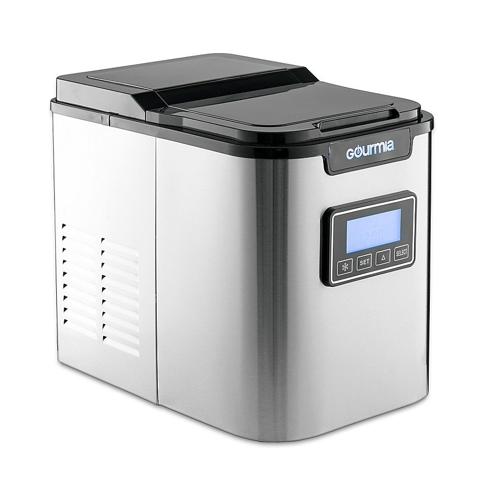Gourmia Compact Ice Maker Stainless Steel Ice Maker Portable