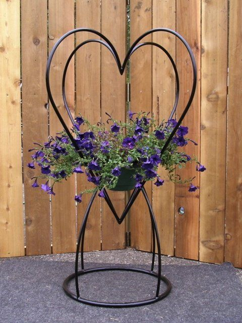 Four Sided Heart Shaped Plant Stand Plant Stand Metal Garden Art Hanging Plants