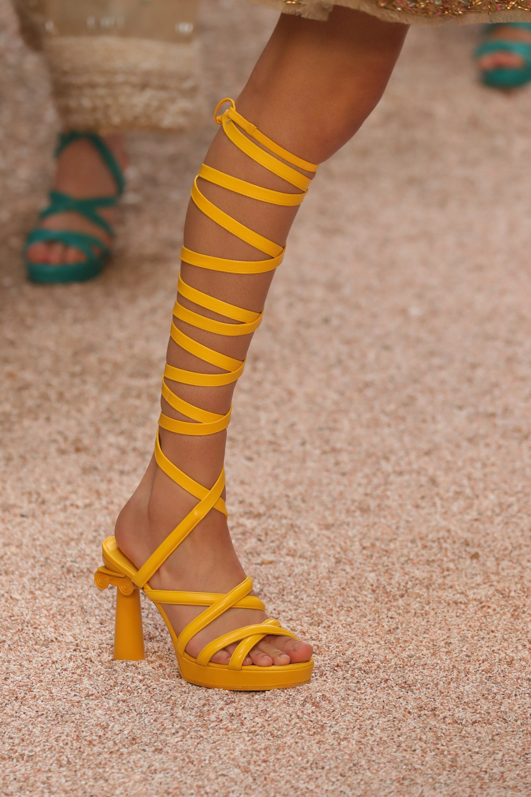 461d90ac25d2 The Footwear of Choice Was Grecian Style Heels
