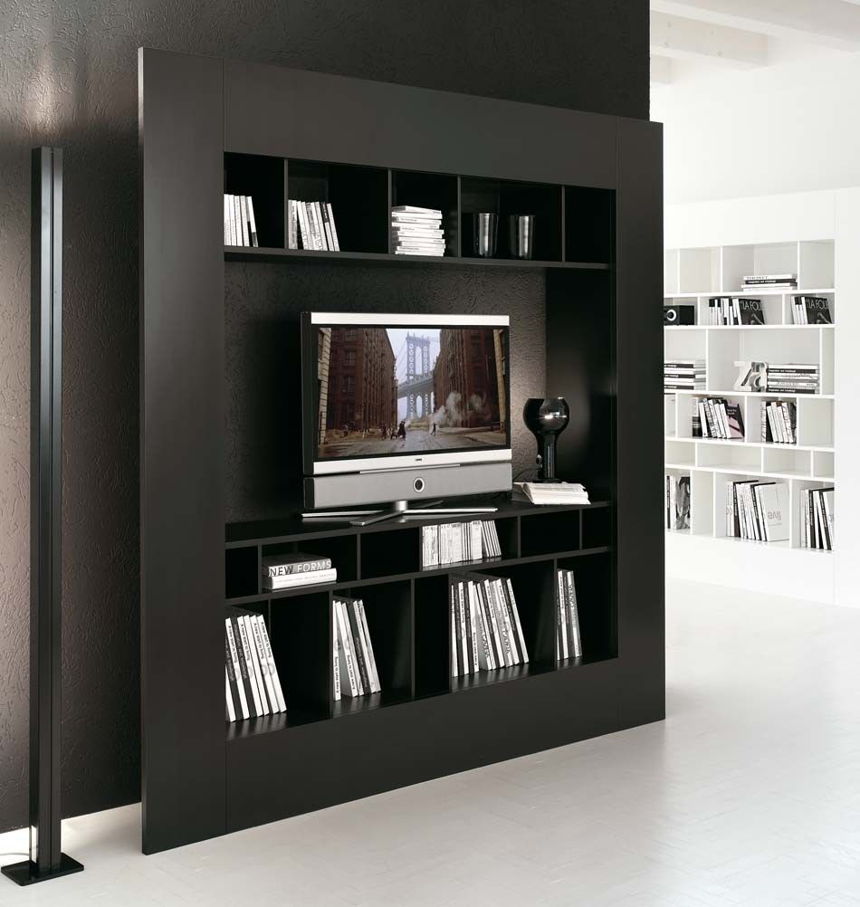 Perfect Window TV Schrank Schwarz | Milanari.com Awesome Ideas