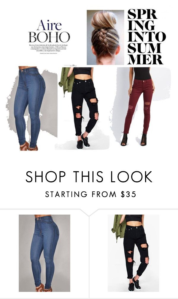 """""""vêtement deparier"""" by amniaali on Polyvore featuring mode, Boohoo et Refuge"""