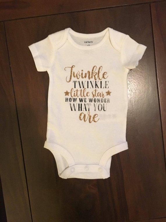 9bdf9f8d33285 Twinkle Twinkle Little Star Gender Reveal Onesie - Baby Newborn ...