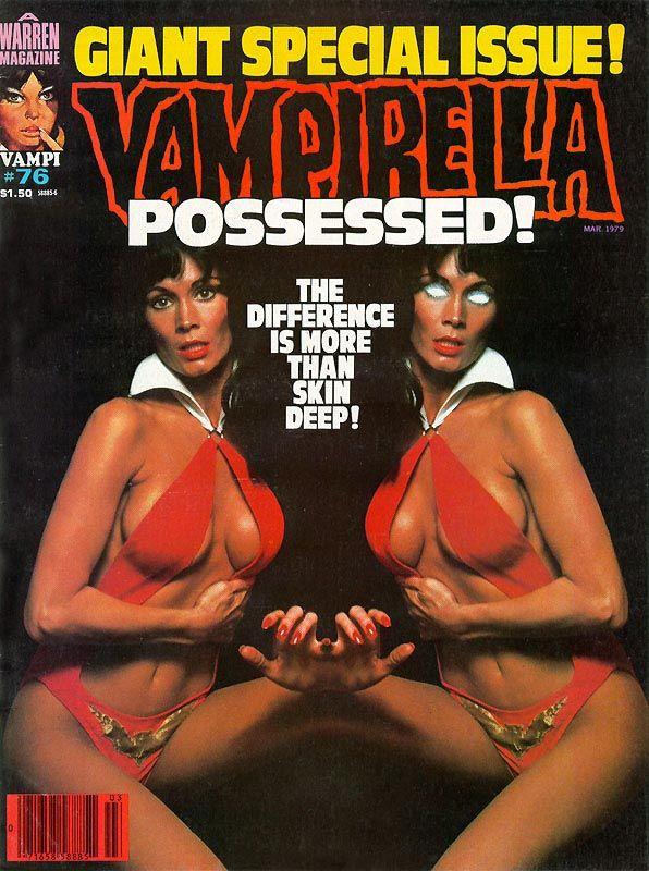 Vampirella, Issue 76 cover: worked on this with Louise Simonson (at that time Louise Jones) editor extraordinaire.