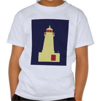 Yellow Lighthouse with Red Tee Shirt