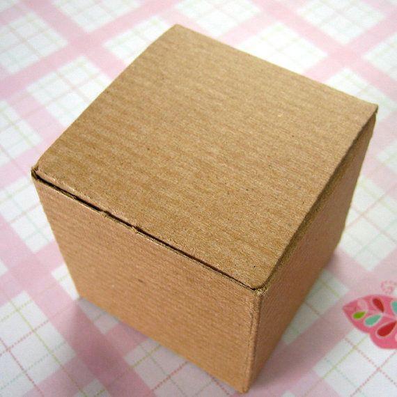 10 Kraft Boxes Pinstripe 2 x 2 x 2 inches. $3.25, via Etsy.