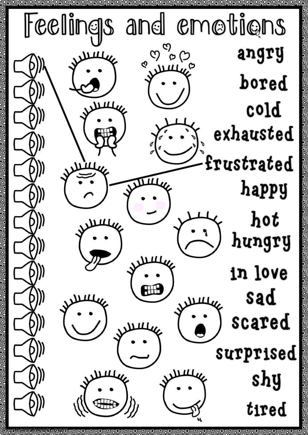 Feelings and emotions interactive and downloadable