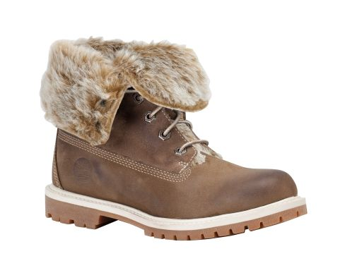 timberland heels fur
