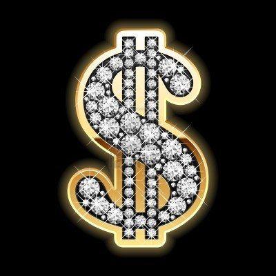 Bling Bling Dollar Symbol In Diamonds Gold Diamond Earrings Bling Diamond Vector