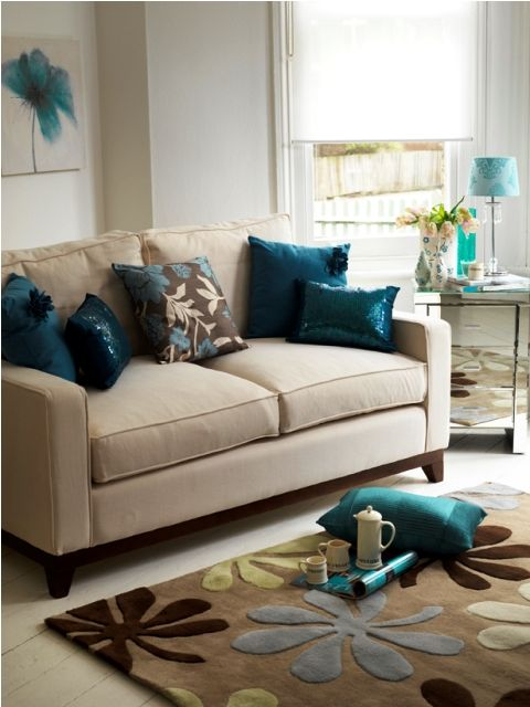 Small Home Interiors With Teal And Silver Colors House
