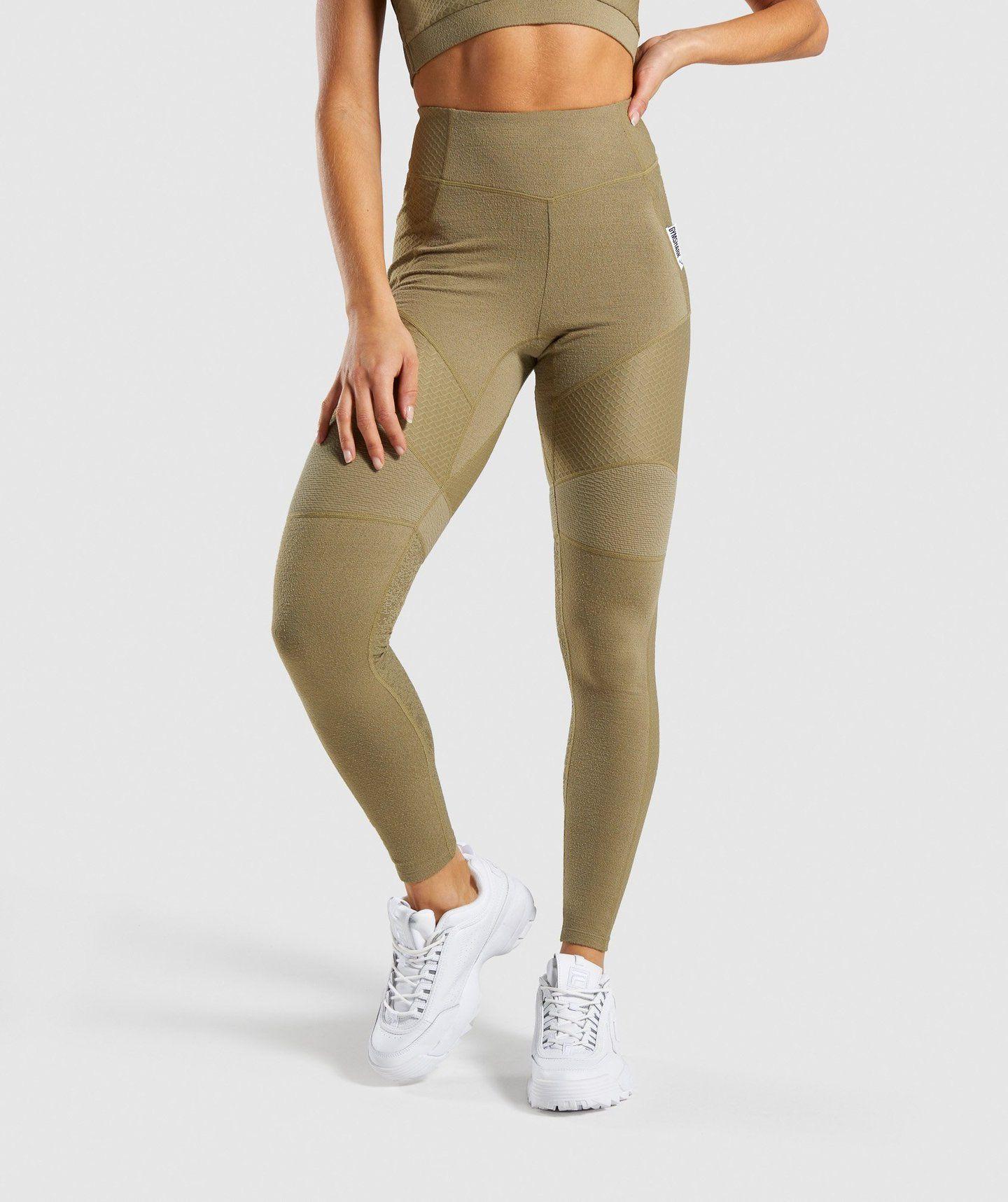 3372bf308c Gymshark True Texture Leggings - Washed Khaki in 2019 | health ...