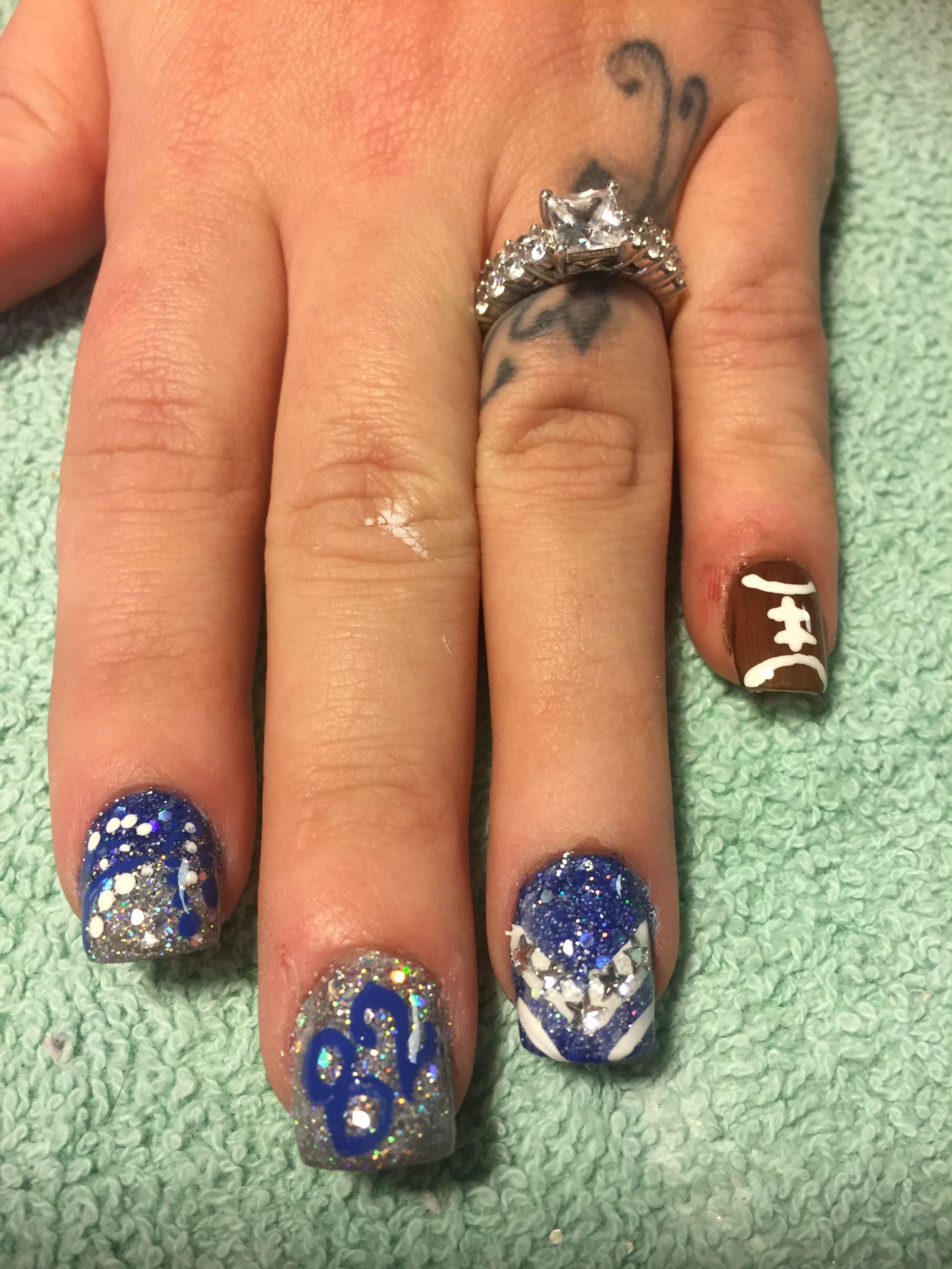 Dallas cowboys nails and nail art   Cowboy nails, Dallas ...