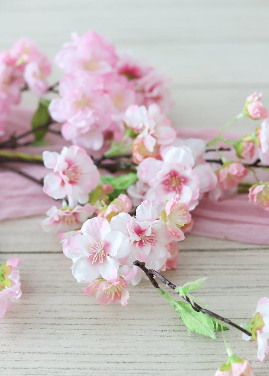 Artificial Pink Cherry Blossom Flower Garland 4 Cherry Blossom Flowers Flower Garlands Artificial Flowers And Plants