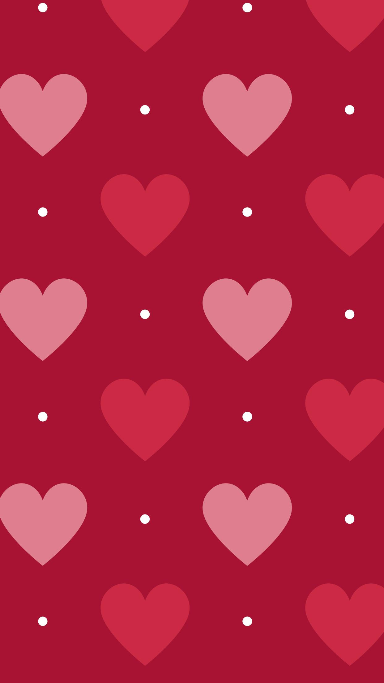 Pics photos pink polka dot s wallpaper - Pink Red Hearts Polka Dots