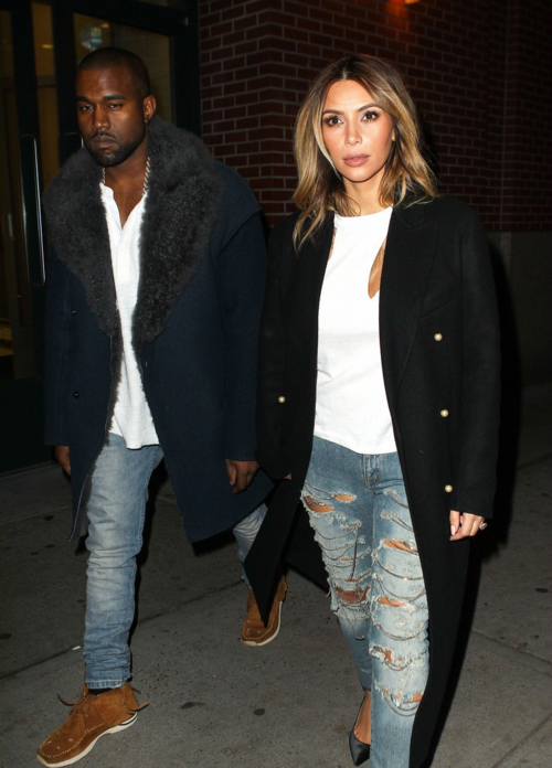 pocahontes:   November 20, 2013 -Kim Kardashian + Kanye West out in NYC.  This is perfect, wow.