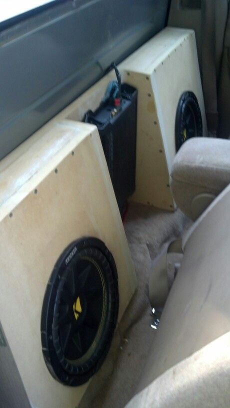 speaker box with two kicker comp 10 39 s my car pinterest cars trucks and subwoofer box. Black Bedroom Furniture Sets. Home Design Ideas