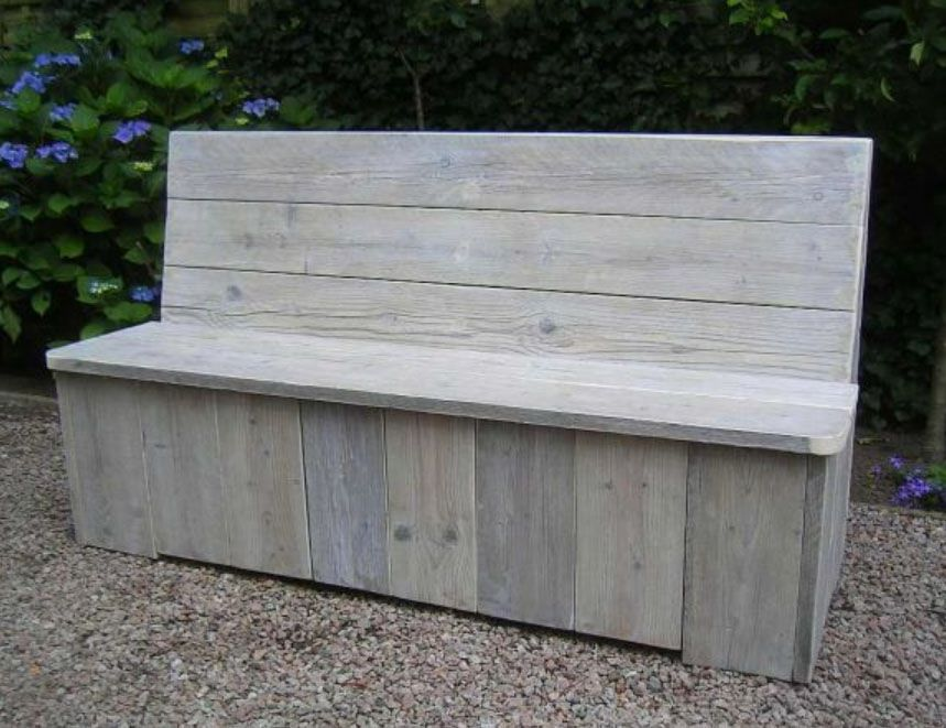Steigerhouten Meubels Friesland : Klepbank gemaakt van oud steigerhout de meubels worden gemaakt