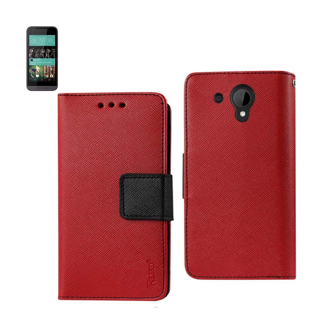 REIKO HTC DESIRE 520 3IN1 WALLET CASE IN RED Wallet