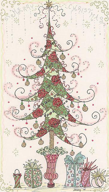 Beautiful Christmas Tree Drawing Christmas Tree Drawing Christmas Drawing Christmas Doodles