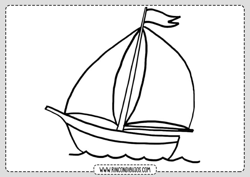 Dibujo Barco Velero Colorear Rincon Dibujos Barcos Para Colorear Barcos Dibujo De Barco