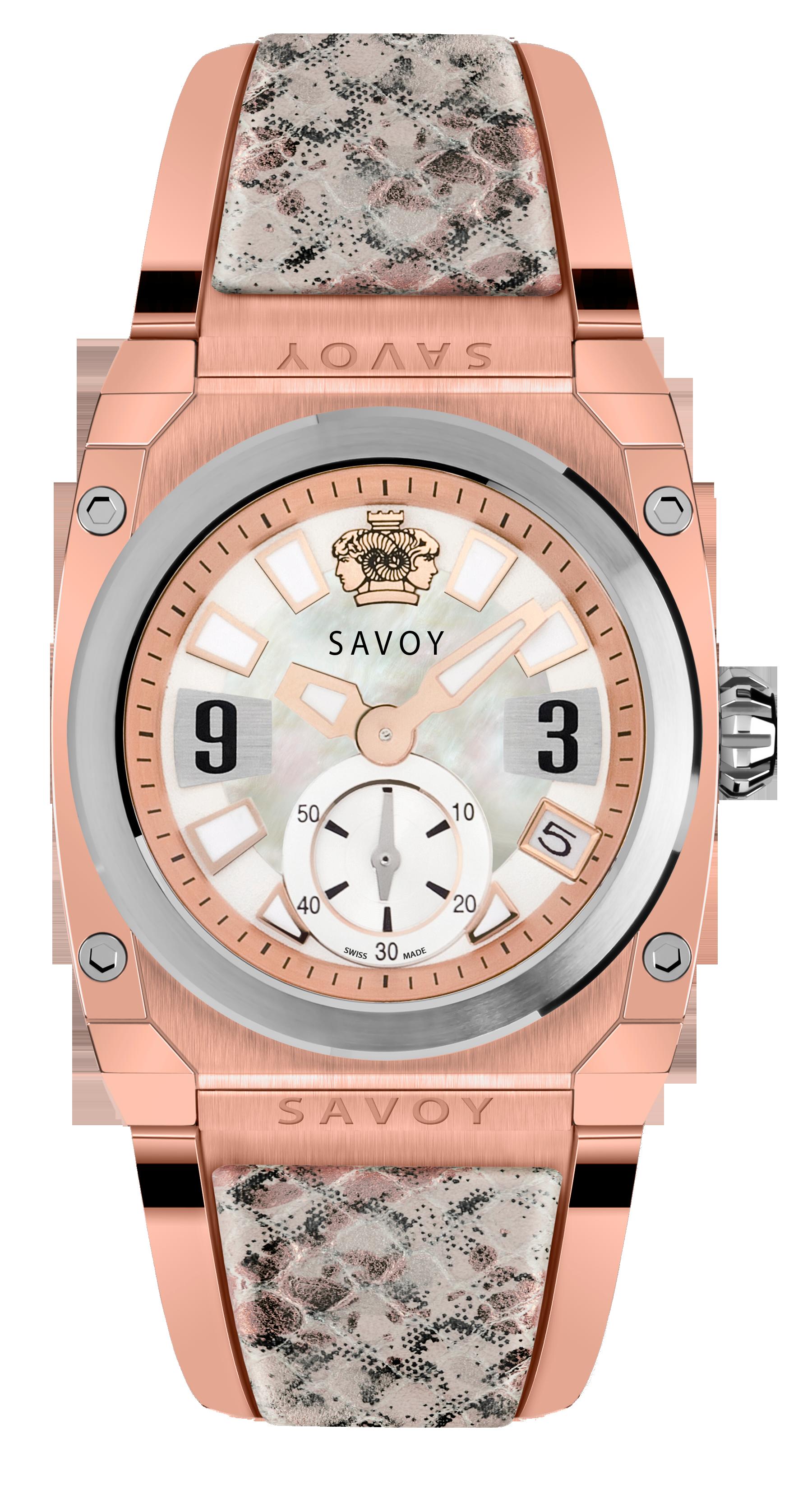 Savoy Watches Icon Light Ladies 35mm – Grey Python Leather Insert S341A1P0106B4010  #SavoyIndia