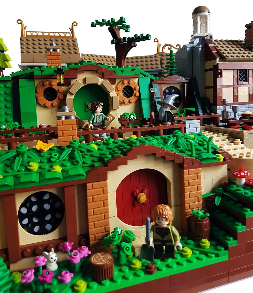 The Shire With Images Lego Hobbit Cool Lego Lego Dragon