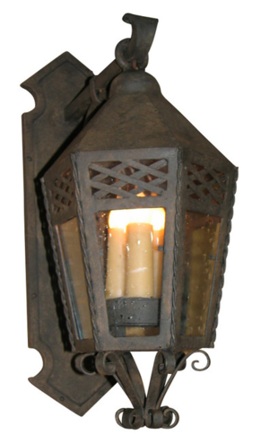 Stilvi wall lantern outdoor wall lighting wrought iron fixtures by laura lee
