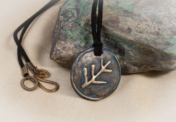 Bronze lovecraft elder sign necklace with antiquing aloadofball Choice Image