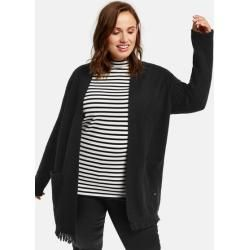 Photo of Cardigan with fringed edge black Gerry Weber