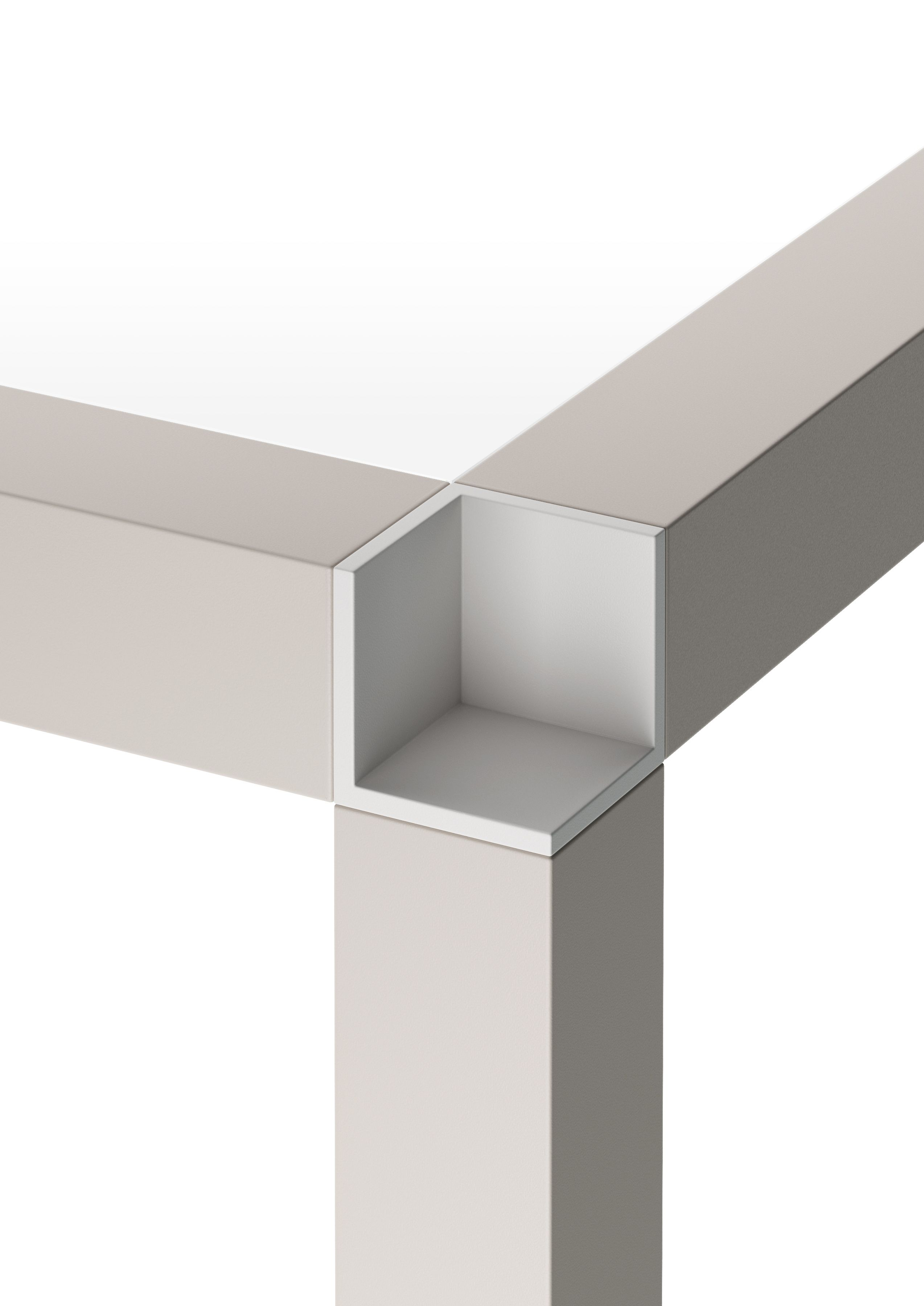 Meuble Aluminium Design Square Glass And Aluminium Table Tavolo Zero 140 X 140 Tavolo Zero
