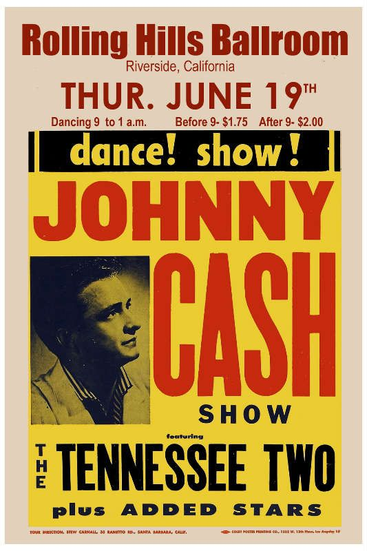 Cash Johnny Johnny Cash At Riverside Concert Poster 1957 In Country Music Posters Music Poster Concert Posters Johnny Cash