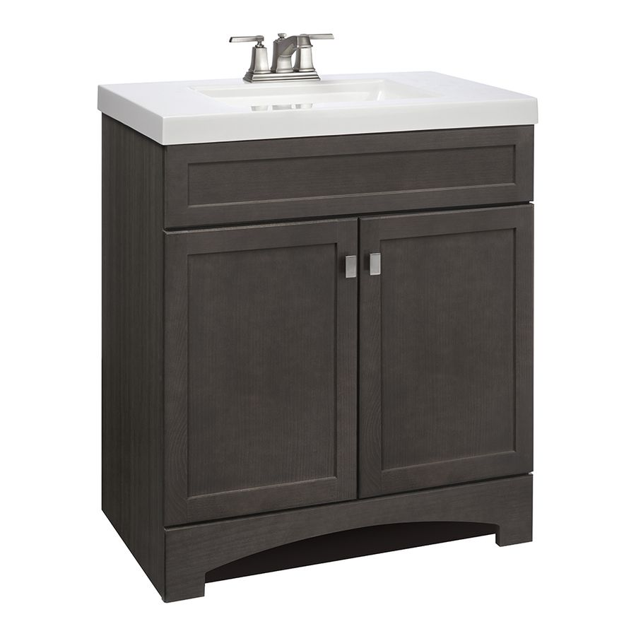 Shop Style Selections Drayden Grey Integral Single Sink Bathroom Vanity With Cultured Marble Top