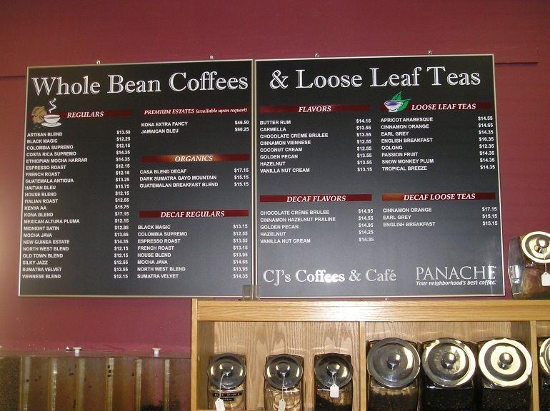 Coffee Shop Menu Board The importance of a stylish <b>menu board ...