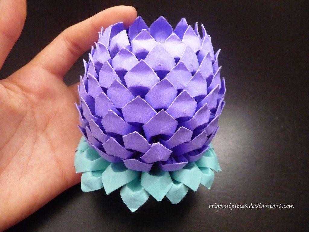 3d origami lotus 3d origami pinterest 3d origami origami and 3d origami lotus izmirmasajfo Image collections