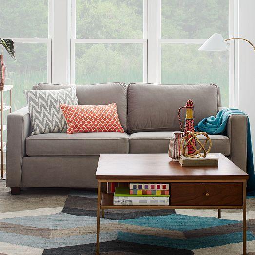 Mid Century Geo Wool Kilim Living Room Henry Sofa West