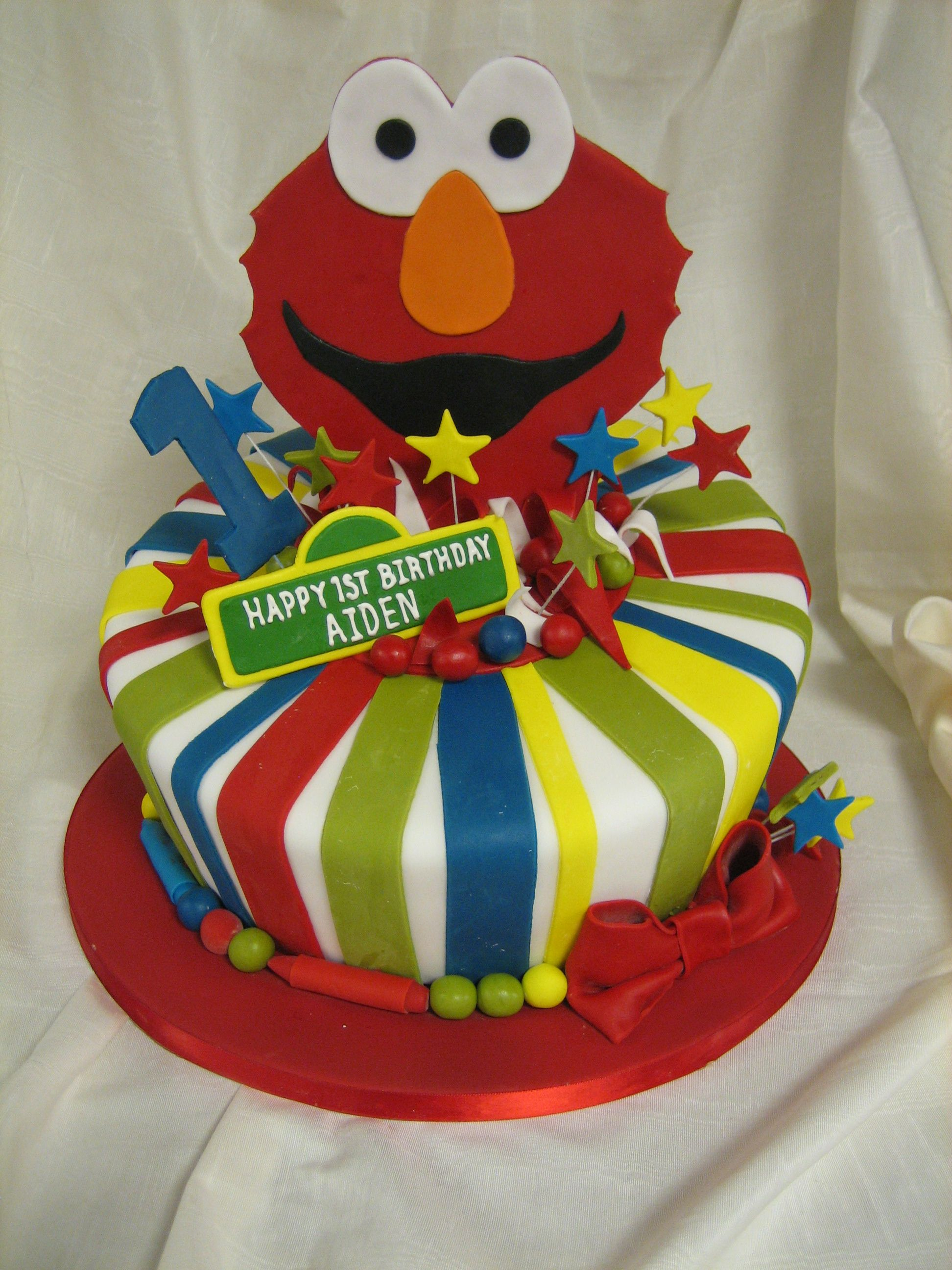 Amy Beck Cake Design Chicago Il Elmo First Birthday Cake