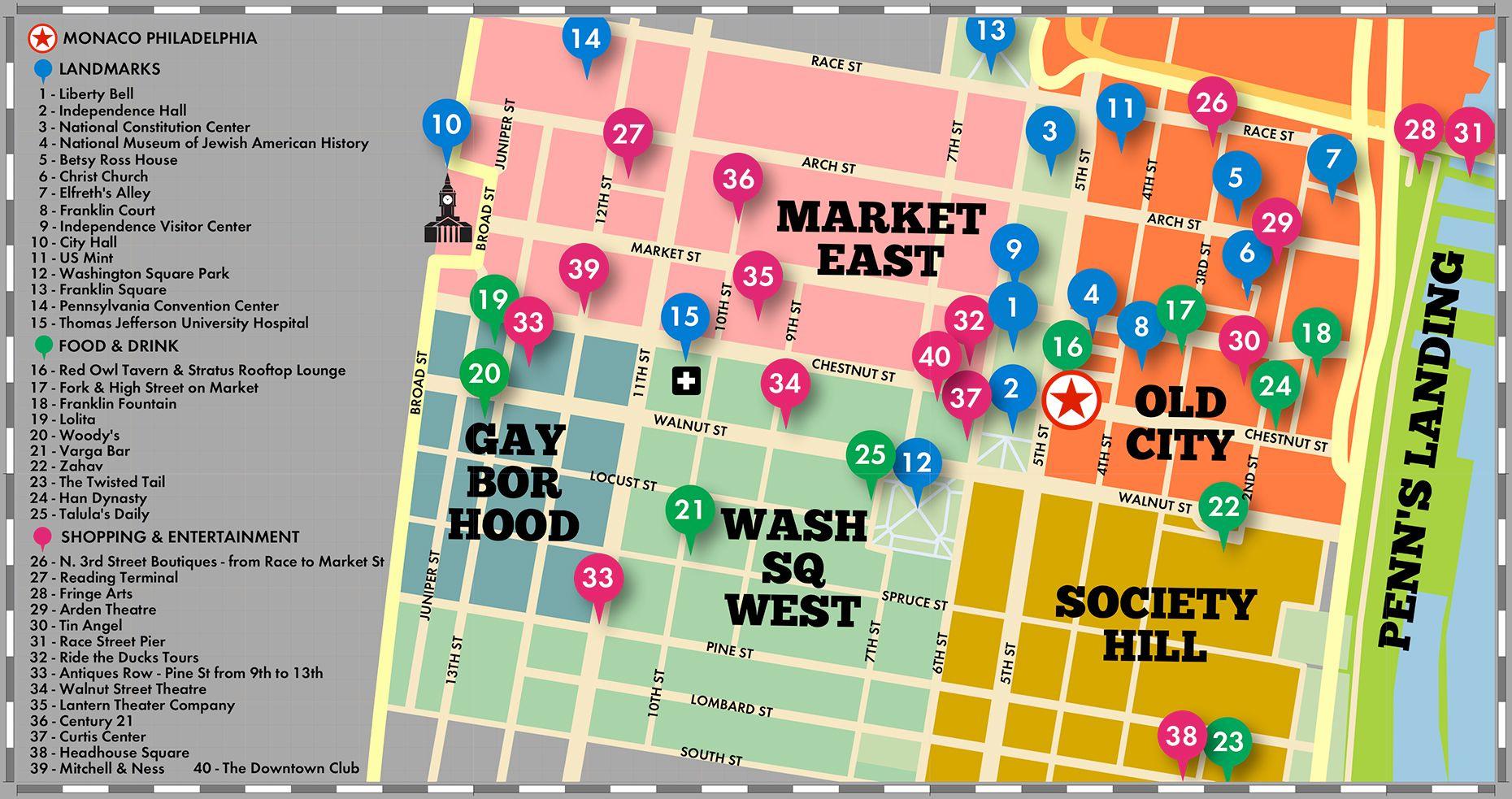 Philadelphia Map Directions To Hotel Monaco a Kimpton Hotel