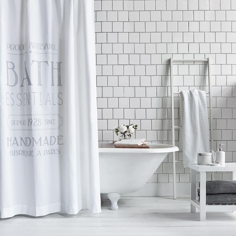 Meuble Salle De Bain Gb Moon ~ rideau de douche bath essentials blanc bouclair 34 99 random