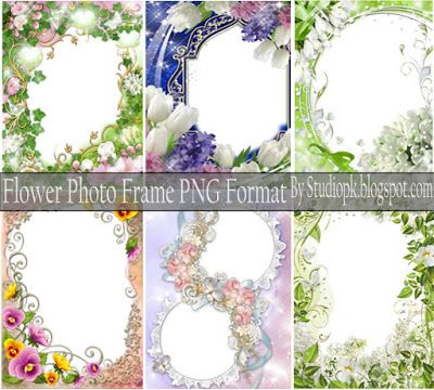 Flower Photo Frame Png Format Free Download | Luckystudio4u ...